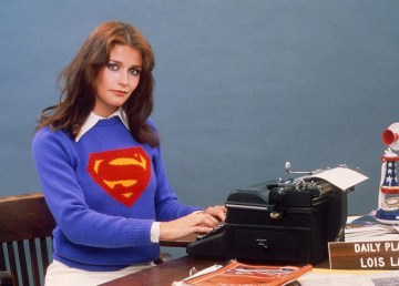Margot Kidder poses for a Superman promotional shot