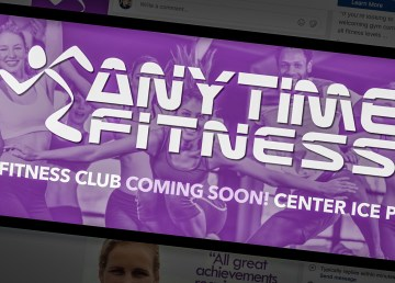 Branding for a new location of Anytime Fitness set to open in Yellowknife in fall 2018