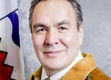 Norman Yakeleya, pictured in his official legislature portrait while serving as Sahtu MLA