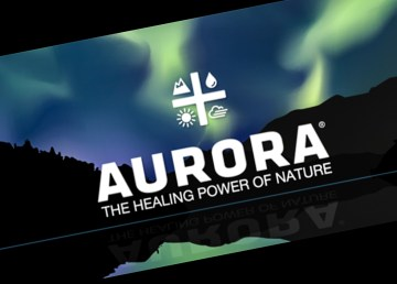 The logo of Alberta-based Aurora Cannabis