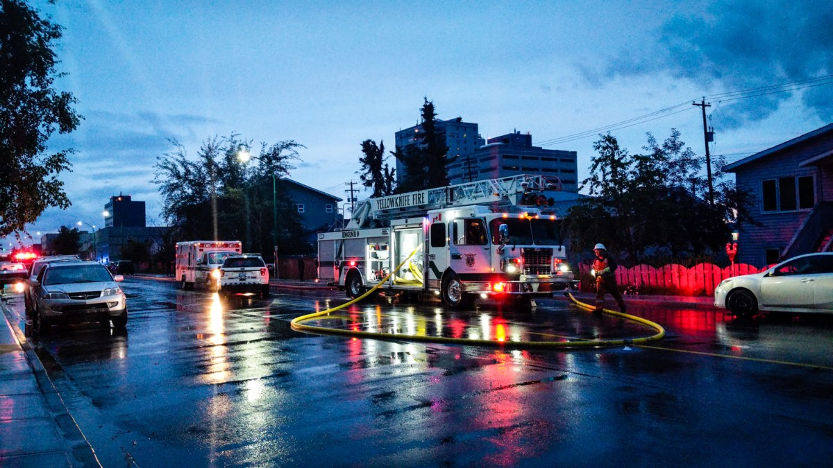 Fire reported at (another) abandoned downtown YK building