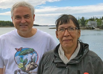 Dr. Jeffrey Wells and Florence Catholique at the Hands-on Bird Science course. Photo: Natural Resources Council of Maine