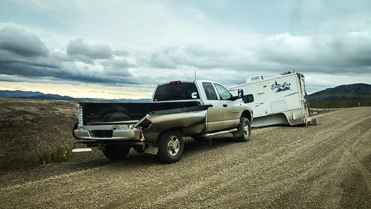 Dempster Highway winds blow camper clean off truck