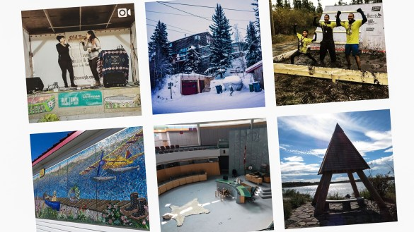 A selection of Instagram photos tagged with Yellowknife in August 2018