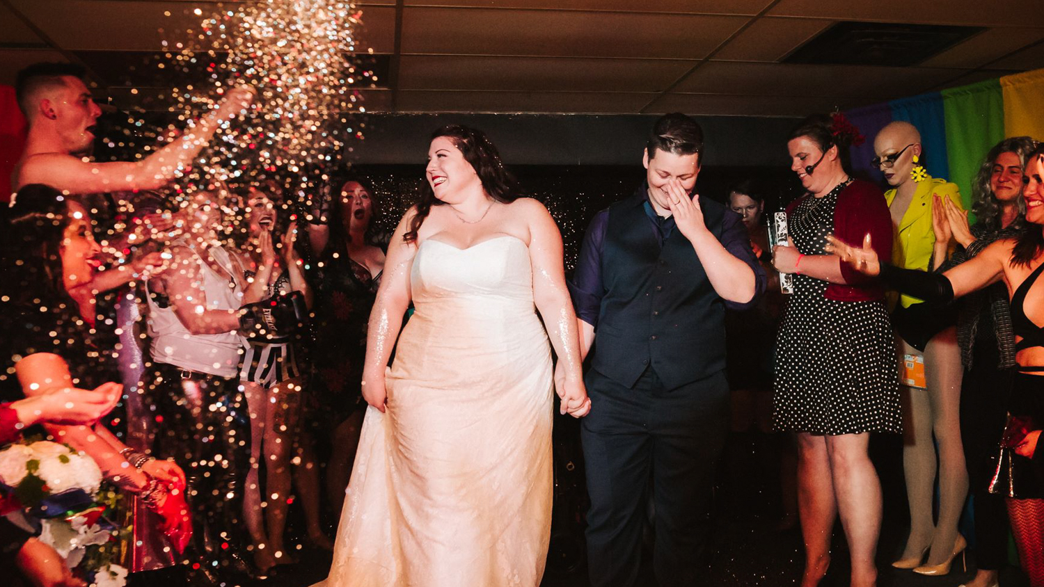 Surprise wedding stuns yellowknife queerlesque audience junglespirit Image collections