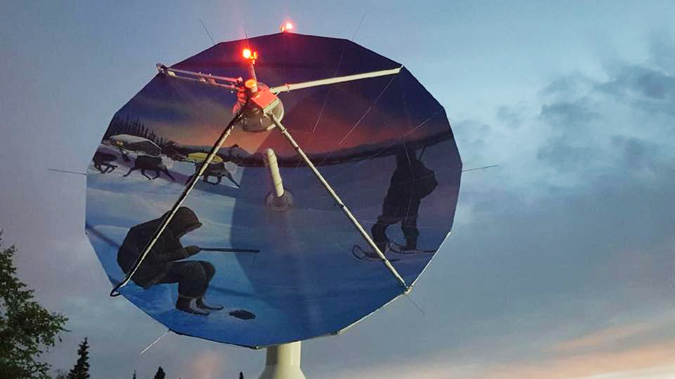 When they're not busy, Inuvik's antennas get a makeover