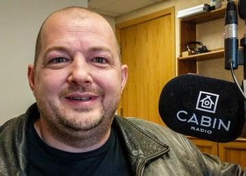 Jerald Sibbeston in Cabin Radio's Studio 1 in September 2018