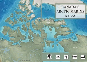 The cover of Canada's Arctic Marine Atlas