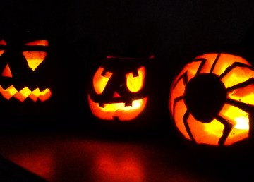 Pumpkins carved by International Halloween Show participants