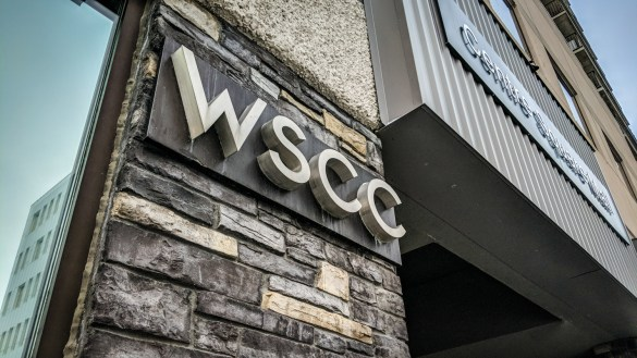 A file photo of the WSCC's downtown Yellowknife office building