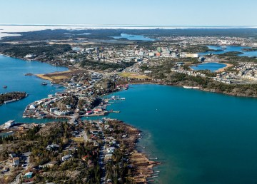 A file photo of Yellowknife from the air
