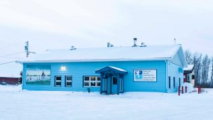 A file photo of the Adult Learning Centre in Fort Resolution in December 2018. Sarah Pruys/Cabin Radio