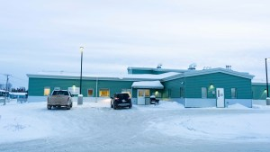 A file photo of the health centre in Fort Resolution in December 2018. Sarah Pruys/Cabin Radio