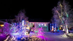 Yellowknife Christmas lights on Dagenais Drive