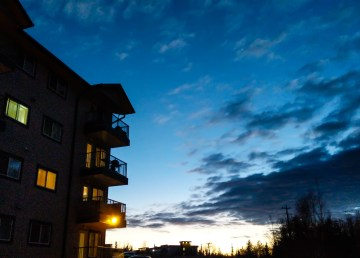 A file photo of a downtown Yellowknife apartment building