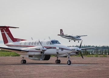 A file photo of an Air Tindi King Air 200 aircraft similar to the one reported missing by the airline on January 30, 2019