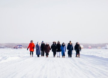 "A team ""walks to Tuk"" in this NWTPRA submitted photo."