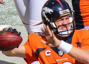 Denver Broncos quarterback Peyton Manning is pictured in 2014. It's not clear if the NWT is full of Broncos fans