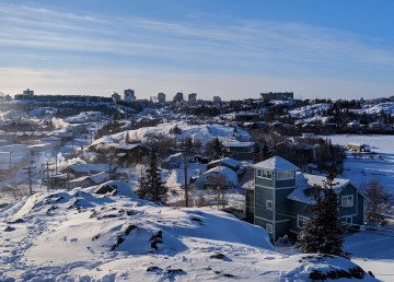 A file photo of Yellowknife in February 2019. Sarah Pruys/Cabin Radio