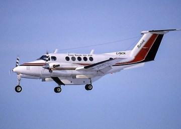 A file photo of a Kenn Borek Air King Air 200 aircraft