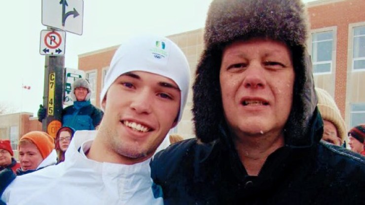 Zach McKillop with his father, Michael, who passed away in 2010. Submitted photo.