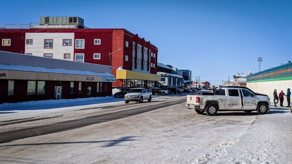 A file photo of downtown Inuvik