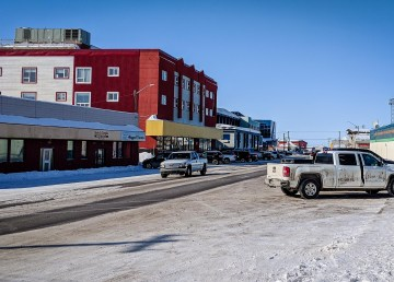 A file photo of downtown Inuvik's Mackenzie Road