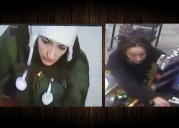 A woman identified by RCMP as Cynthia Lafferty is shown in two police handout images