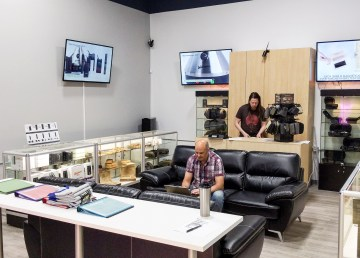 Releaf NT's co-owners inside their Yellowknife store on its opening day