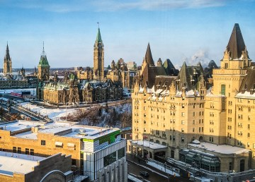 A view of downtown Ottawa and Parliament