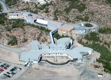 An aerial view of Yellowknife's North Slave Correctional Complex
