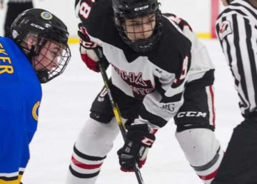 Jonah Bevington representing Okanagan Hockey Academy's Edmonton campus. Photo: Supplied