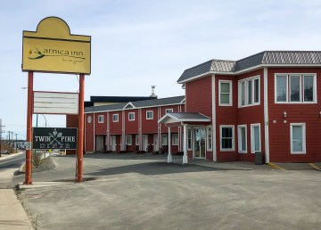 The Arnica Inn, on Yellowknife's Franklin Avenue, is seen on the morning of May 27, 2019