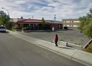 A fie Google Streetview image of Yellowknife's downtown liquor store