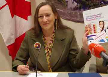 Minister of Education, Culture and Employment Caroline Cochrane