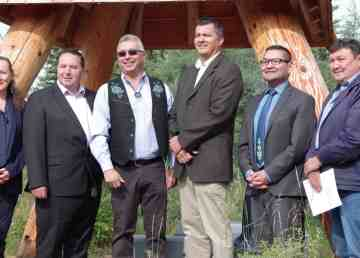 Territorial politicians and NWT MP Michael McLeod announce $31.3 million in federal funding for infrastructure projects