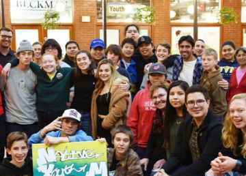 Students from Fort Providence and Ottawa who participated in an exchange are pictured in a photo on Northern LOCO's website.