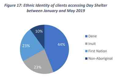 The ethnicity of people using the sobering and day centre