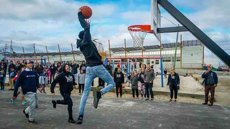 Basketball at K'alemi Dene School in Ndilo