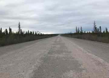 The Dempster Highway heading to Tsiigehtchic