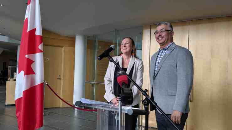 Caroline Cochrane and Michael McLeod