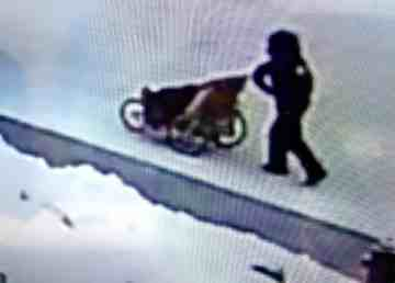 An RCMP handout image shows a man with a stroller on November 28, 2019
