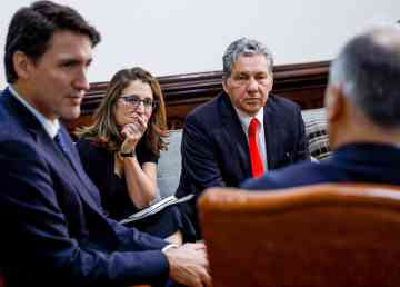 Dan Vandal, centre right, appears with Prime Minister Justin Trudeau in a photo posted to Facebook by the minister in late 2019