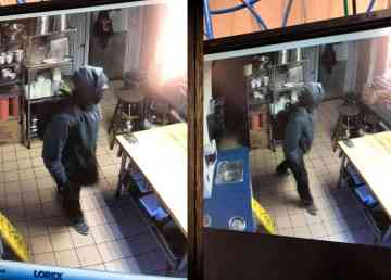 Yellowknife's Monkey Tree Pub captured these images reportedly showing a suspect breaking into the building on January 17, 2020