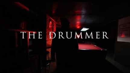 A still from the trailer for Dead North 2020 movie The Drummer