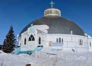 Inuvik's Our Lady of Victory Church, known as the Igloo Church, is seen in 2018