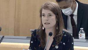 Infrastructure minister Katrina Nokleby in the legislature on May 26, 2020