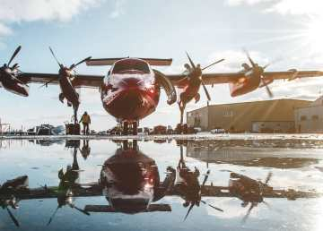 A photo of a Dash 7 shared on Air Tindi's Facebook page.