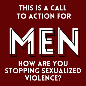 An image created as part of a call for men in Yellowknife to take action to end gender-based and sexualized violence