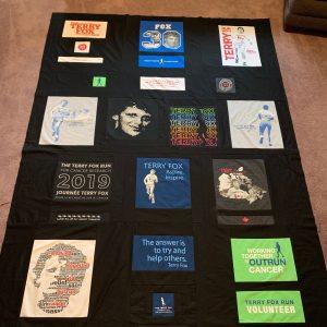 Linda Whitford's Terry Fox Run T-shirt quilt